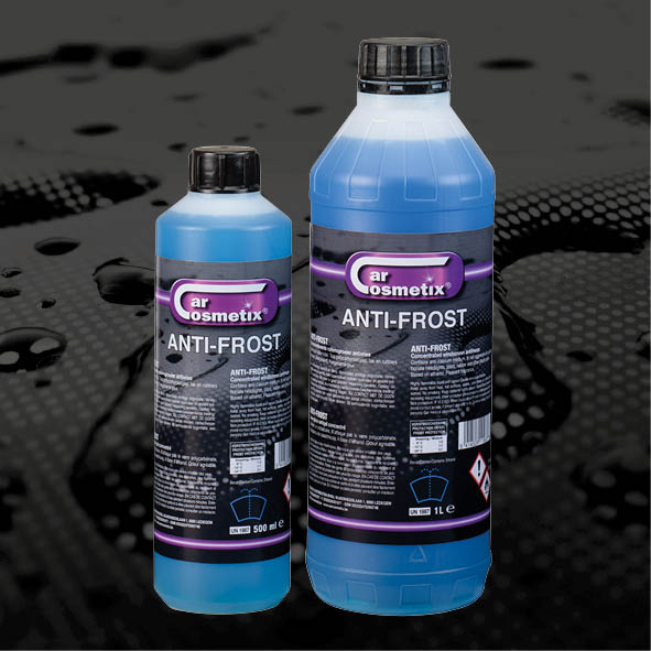 ANTI FROST -18C°/-40°C/-70°C - NL Geconcentreerde ruitensproeier antivries. Bevat anti-kalkmiddel. Tast polycarbonaatglas, lak en rubber niet aan. Methanolvrij. LemonFR Lave-glace antigel concentré. N'attaquepas le verre polycarbonate, la laque oules caoutchoucs. Sans méthanol. LemonEN Concentrated windscreen antifreeze.Contains anti-calcium medium. Is notaggressive for polycarbonate headlights,paint en rubbers. Based on ethanol,methanol-free. Lemon500ml/1L/5L/25L/60L/210L/1000L