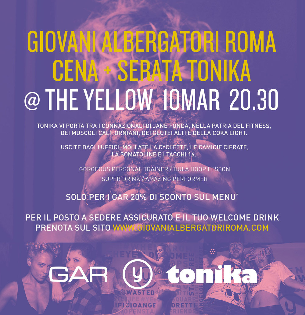 Flyer GAR @ The Yellow