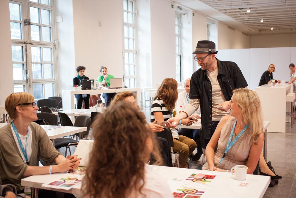 Gabe Mac giving a workshop at DLD Women