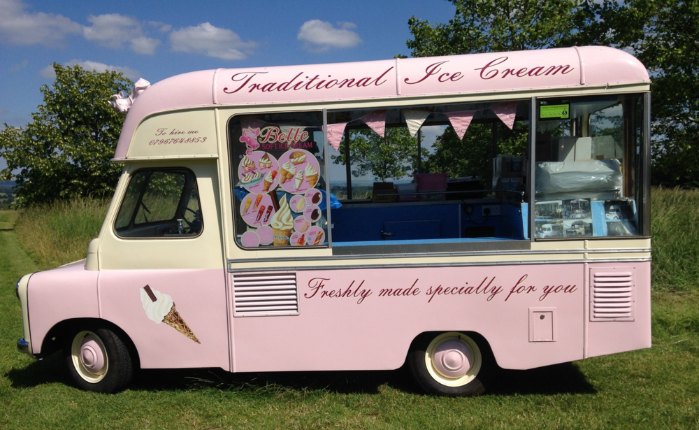 Belle - vintage ice cream van in Kent