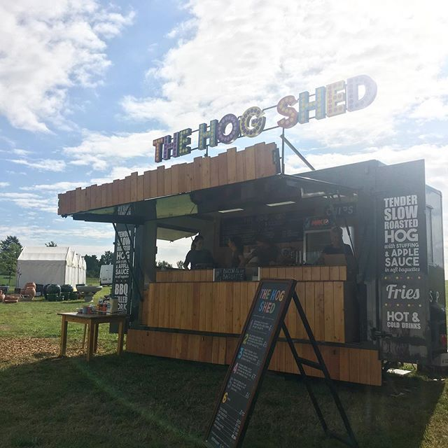 Glorious day today in Essex ☀️. Our ever popular hog roast #mobilecatering unit #thehogshed is available to hire for both private and #corporate #events