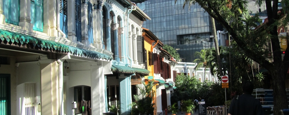 "Emerald Hill in Singapore where ""Chinese Baroque"" of the early 1900's meets glass and steel on Orchard Road"