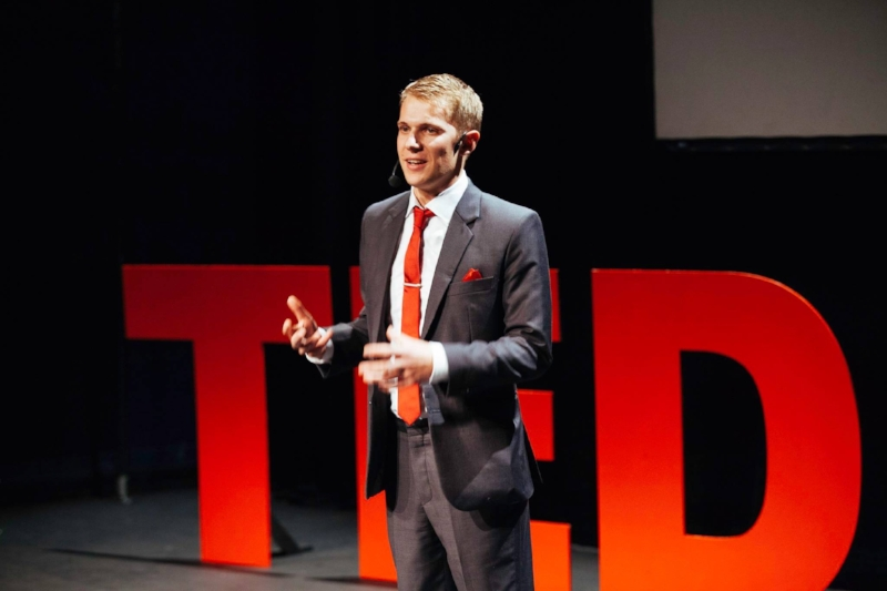 Walking out on stage at TED