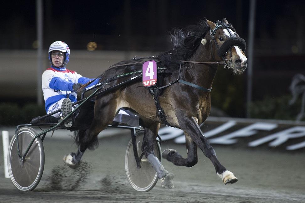 Sist Art Haaken testet sprintdistanse endte det med seier... Foto: Hesteguiden.com.