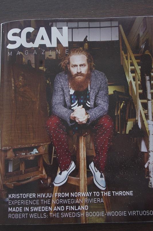 Slik ser forsiden av juli-utgaven av Scan Magazine ut.