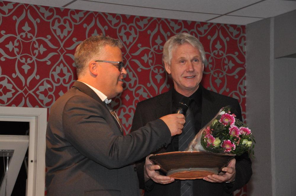 Ingvar Ludvigsen og Alf Torfinn Skeie fra hestegallaen i mars 2017. Foto: Baard Larsen.