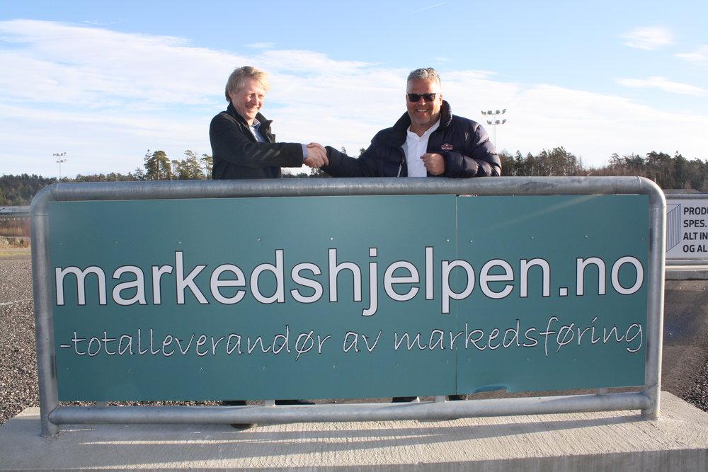 Einar Sjøvaag (t.v.) og Ingvar Ludvigsen er klare for videre samarbeid. Foto: Richard Ekhaugen.