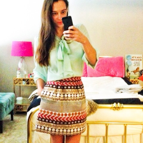 Top:  Lilly Pulitzer  ; Skirt:  Anthropologie