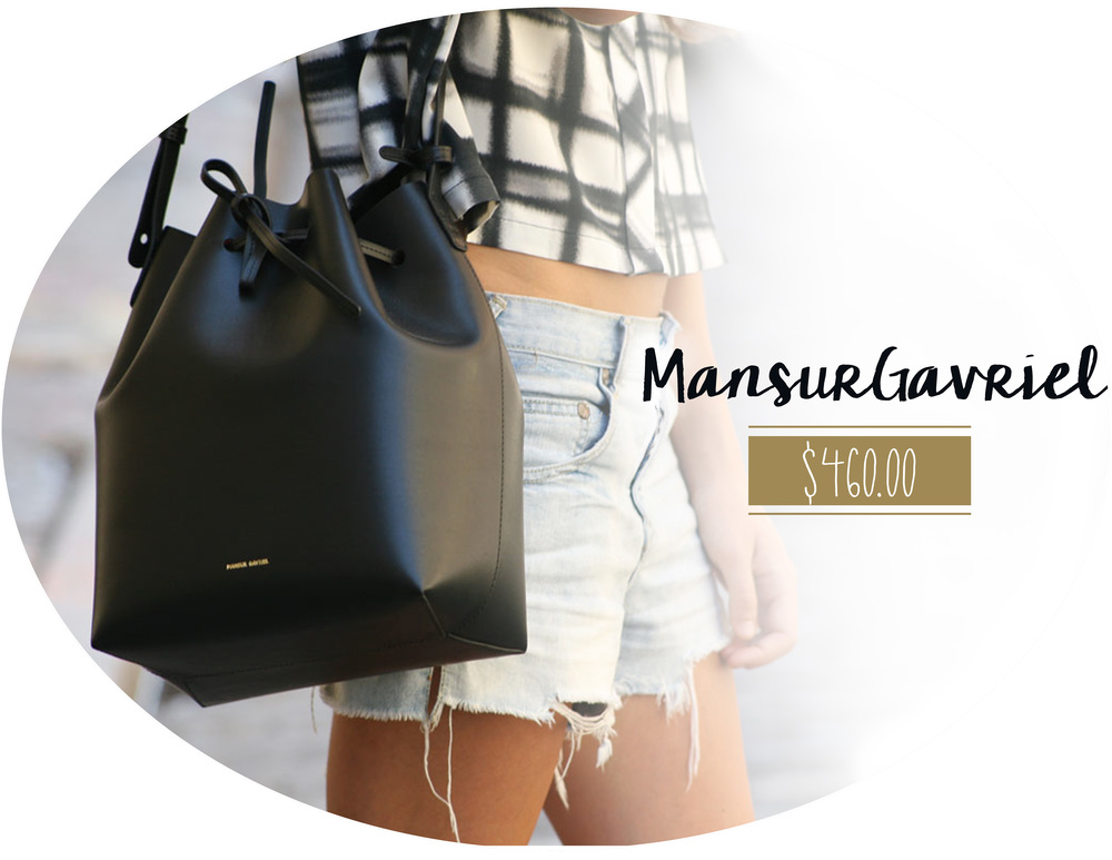 available in multiple colors and sizes here  or  from the Mansur Gavriel website.