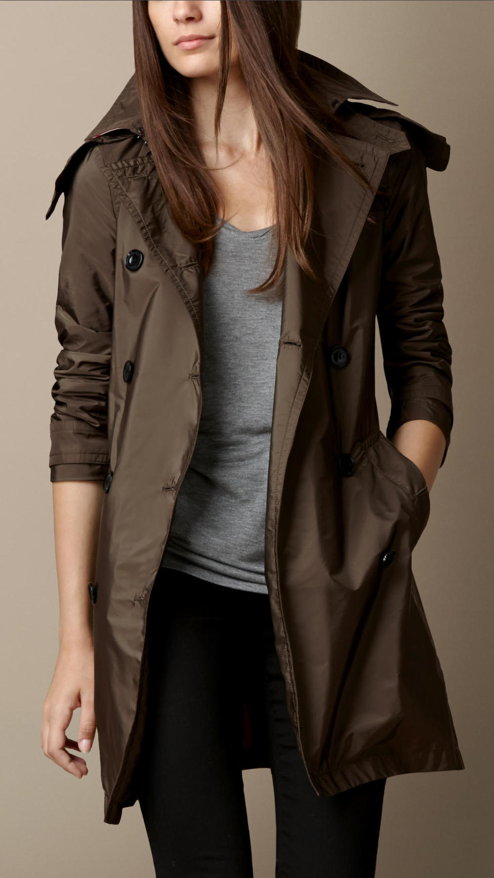 Burberry | Lightweight Trench Coat with Detachable Hood