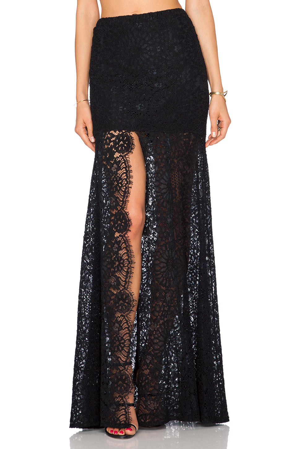 Alexis | Hermes Lace Maxi Skirt