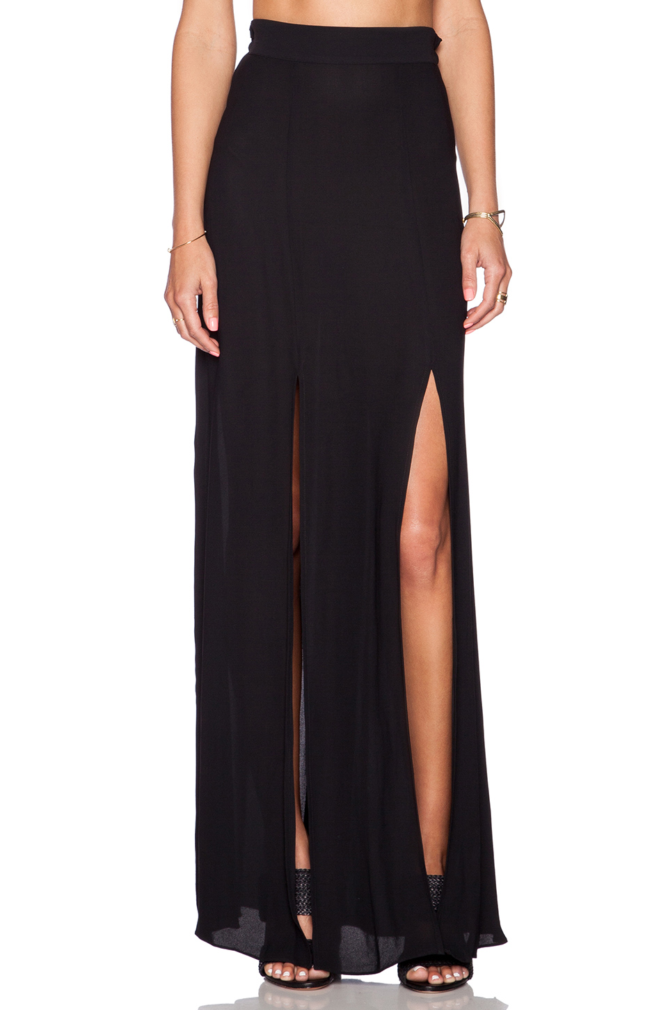 L'Agence | Double Slit Maxi Skirt