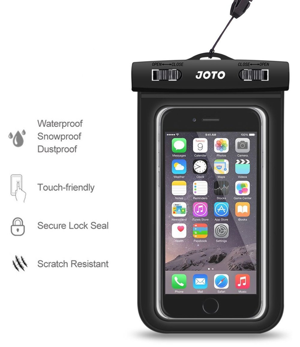 JOTO Universal Waterproof Case Bag for Apple iPhone