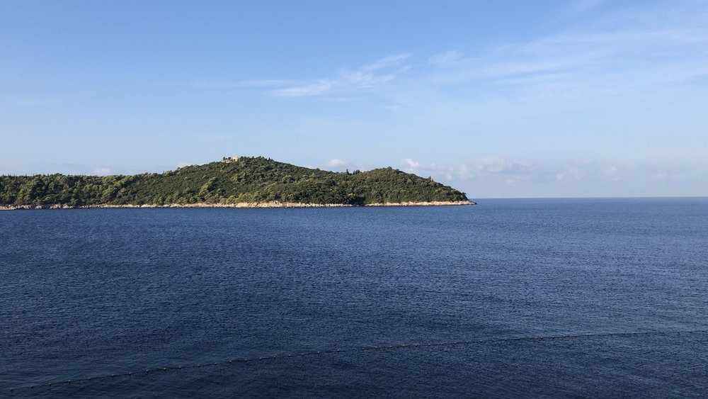 View of Lokrum from our Hotel