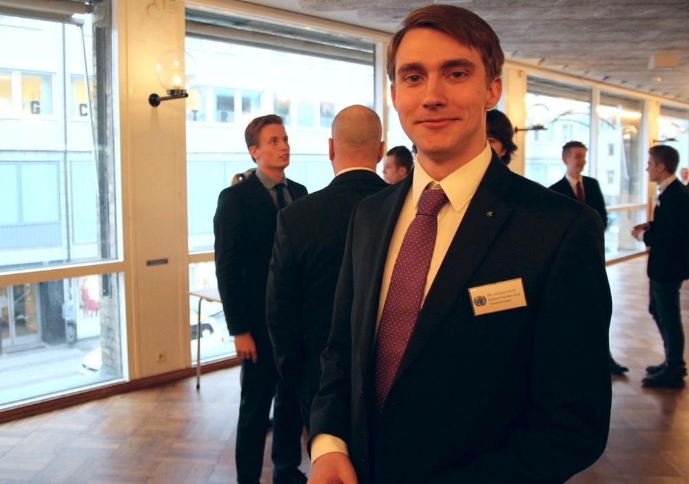 Samuel Körner är en av de elever som arrangerar årets FN-rollspel.
