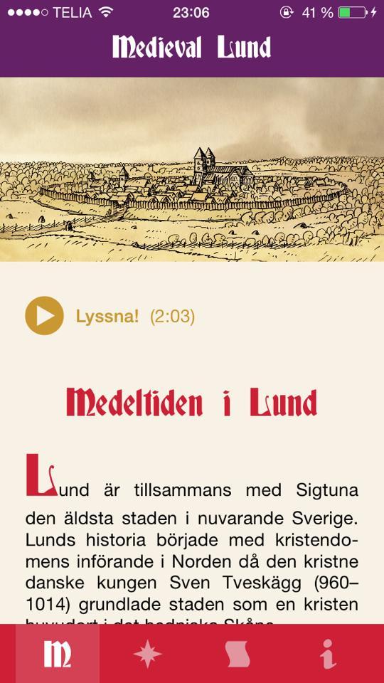 """Bilder från appen """"Medieval Lund"""""""
