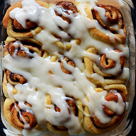 Do you know that you are seven ingredients away from an outstanding cinnamon bun?!