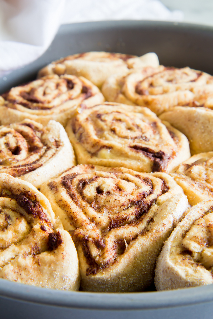 Do you want a healthier option? These cinnamon rolls has bananas instead of sugar in them.