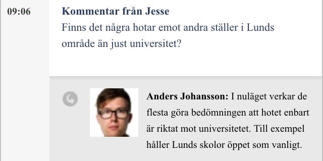 Sydsvenskan svarar live på läsares frågor.