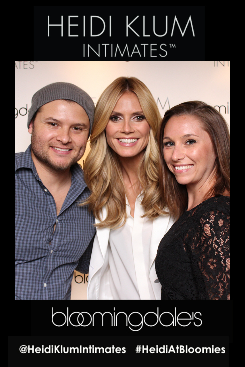 Photo booth For U.S. Launch Of Heidi Klum Intimates at Bloomingdales NYC