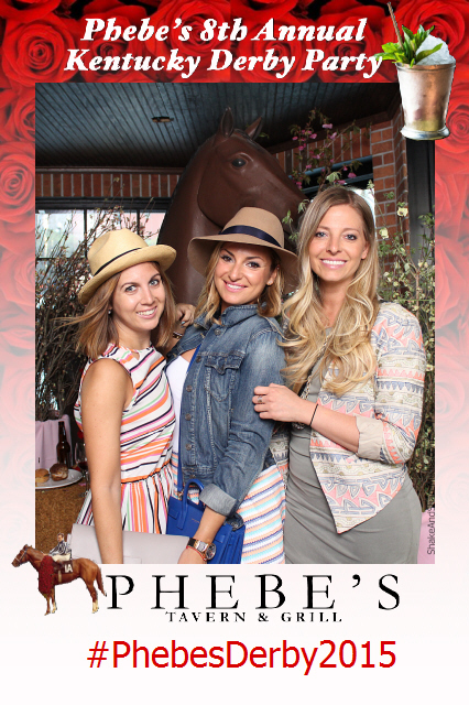 Photo booth for Phoebe's Kentucky Derby Party