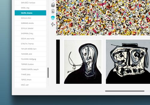 Kaleidoscopio Fundación Telefonica. Aplicación web que presenta las colecciones de Arte y Fotografía de Telefónica, relacionándolos a través de una red semántica.