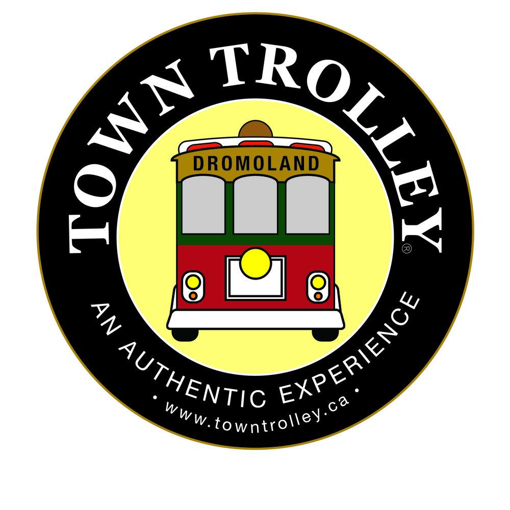 Dromoland Towny Trolley Logo (Black & White)-01.jpg