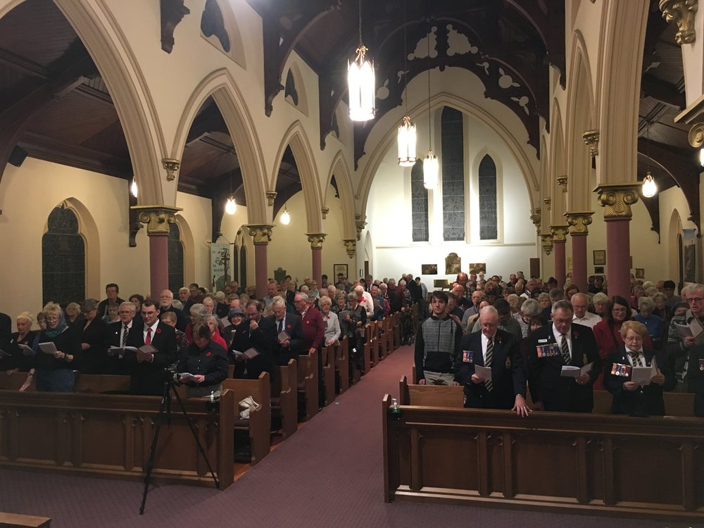 Remembrance Day Commemorative Service at St. Paul's Anglican Church, Lindsay