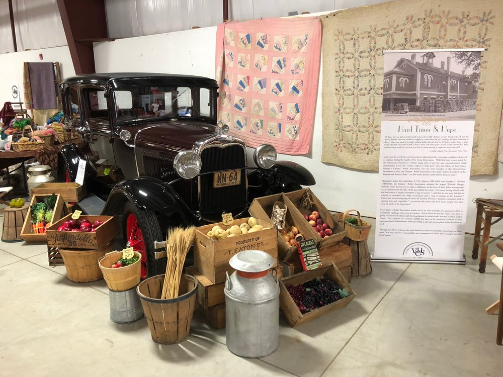 Great Depression display at the 164th Lindsay Central Exhibition, September 2018