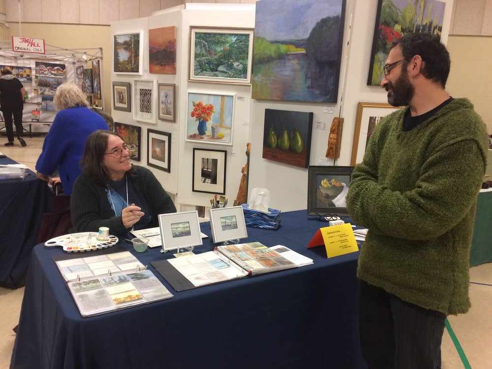 Watercolour Demonstration by Sydney Susan at KAN booth at MIKL 2018