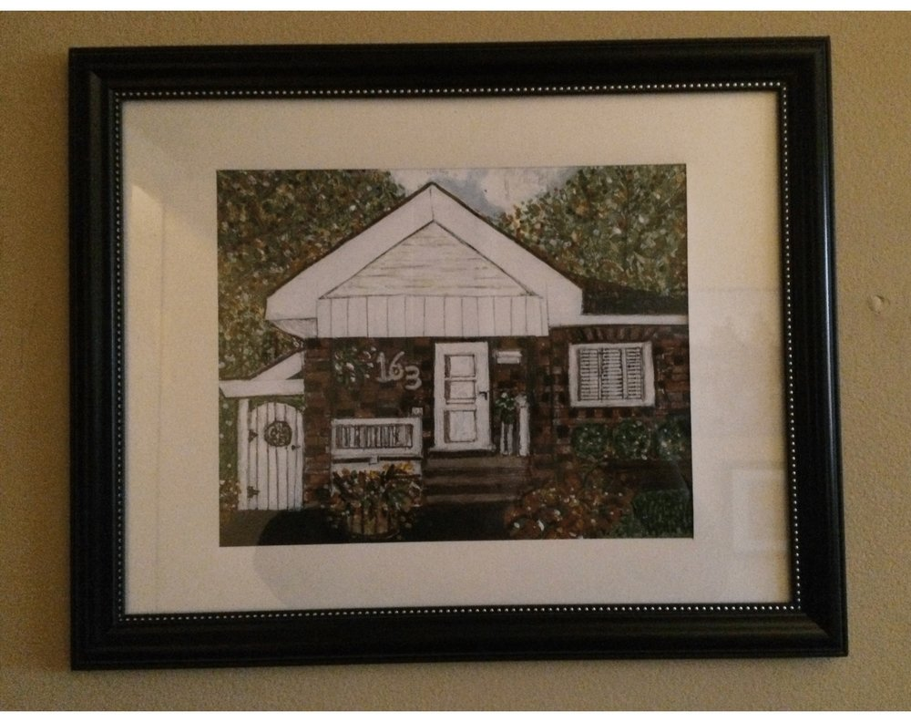 'Humble Home' in acrylic