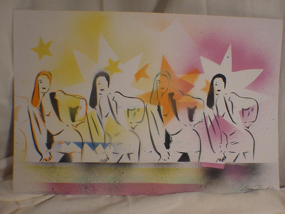 Four Women in Stars