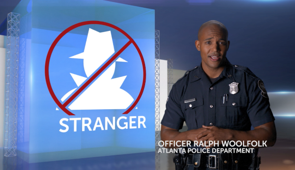 Officer Ralph Woolfolk of the Atlanta Police Department offers helpful safety tips as part of Justice Network's BeSAFE initiative.