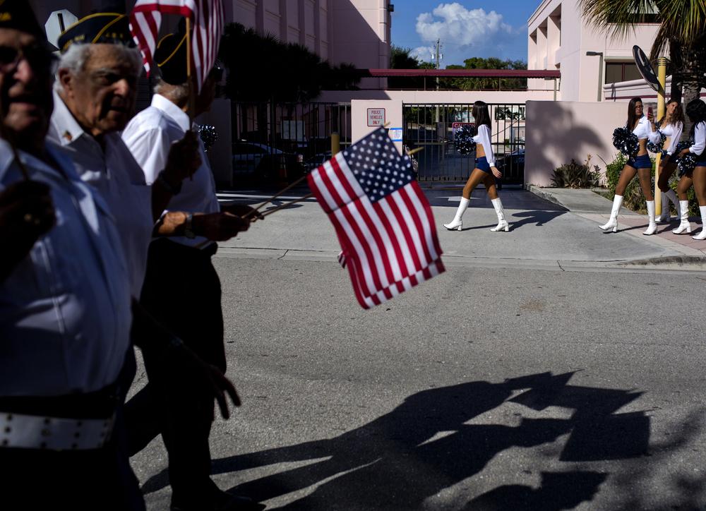 Veterans Parade. West Palm Beach, Florida.