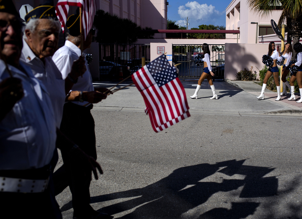 Veterans Day Parade. West Palm Beach, Florida.