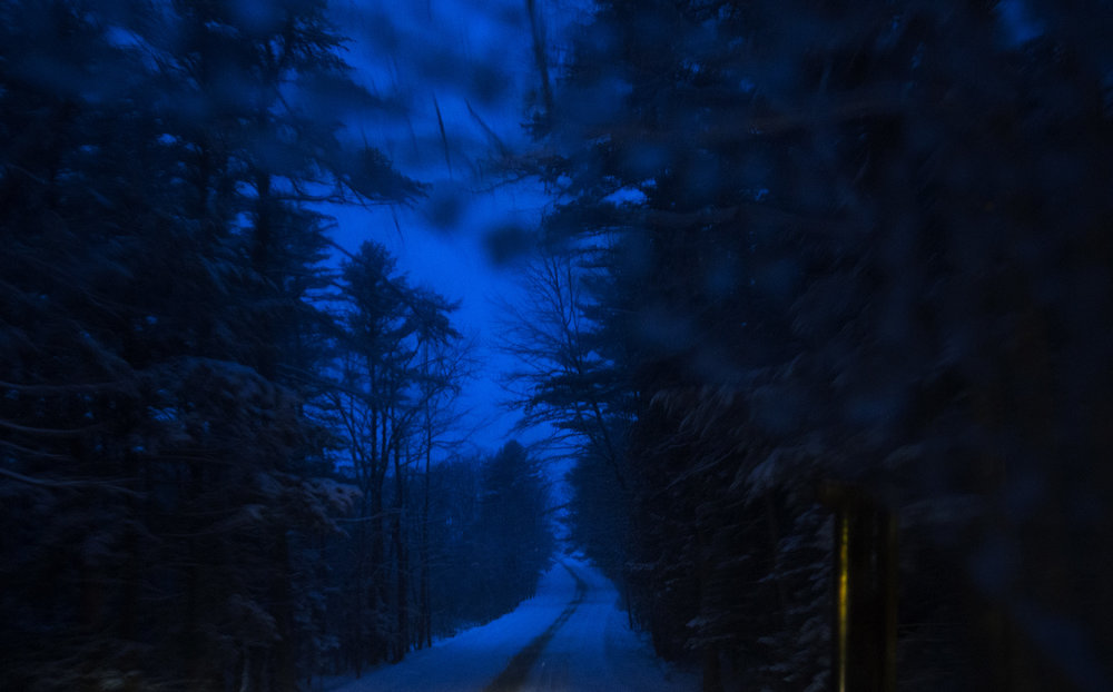 Winter storm. Buxton, Maine.
