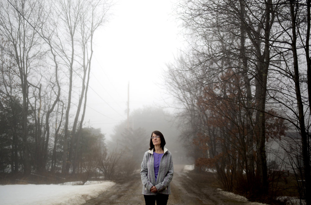 Mary Jeralds outside of her home in Lebanon, Maine. She lost her son David Zysk to an overdose on Nov. 8, 2015. He was 33 years old. Zysk was four years clean before his fatal relapse.
