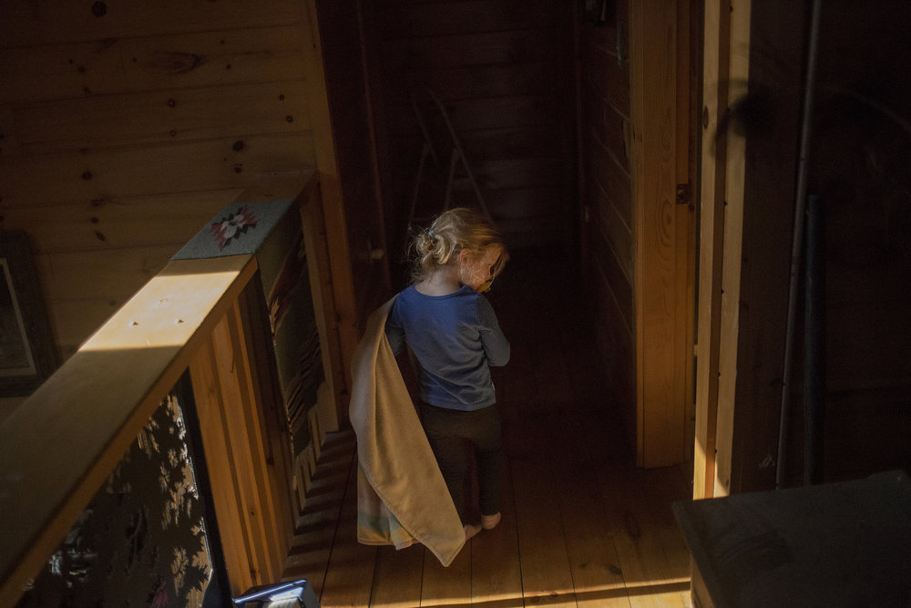 Claire Smith, 3, at her grandparent's house in Stow, Maine. Claire was only nine months when her mother, Ronni Baker, died from an overdose on Feb. 26, 2015. Ronni was 23 years old.