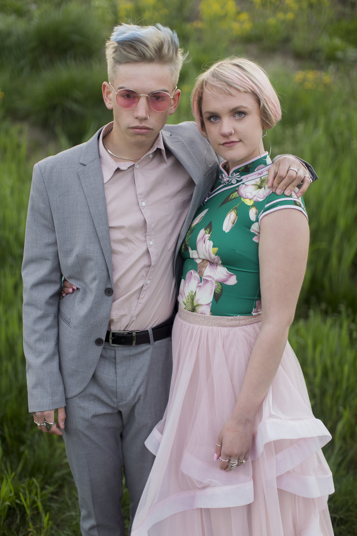 Wesley Miller, left, and Gracie Haynes.