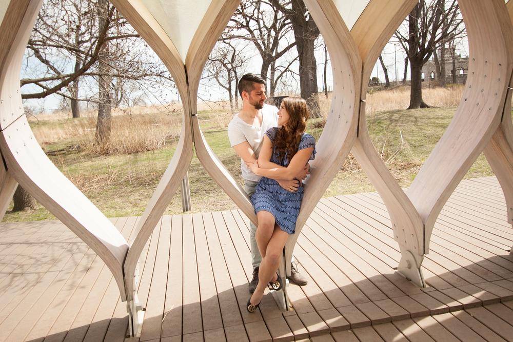 Amanda + Nick:  A Lincoln Park Boardwalk Engagement Session