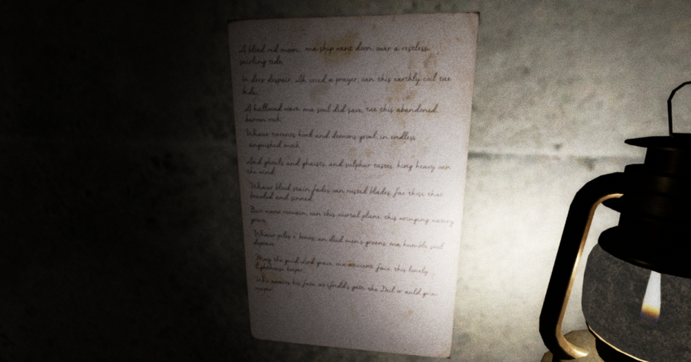 Poem in game / candle flame  particle