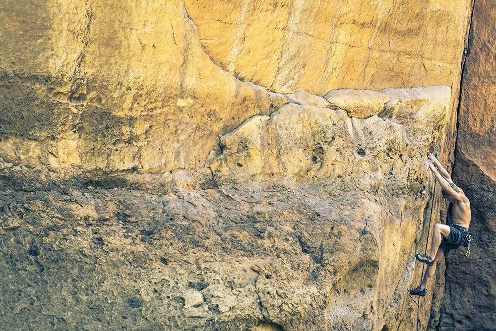 John rock climbing in Diablo