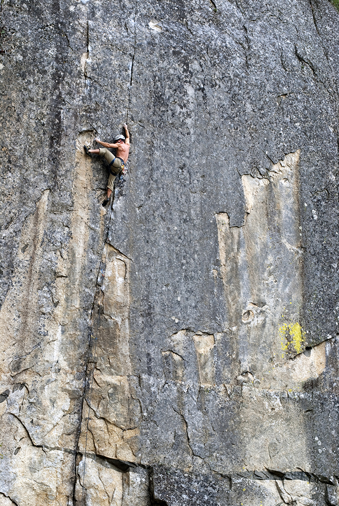 Matt Greco rock climbing in Yosemite, California.