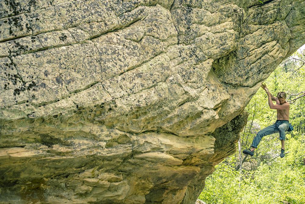 Thomas Maxson bouldering at Kelly Canyon, Arizona.