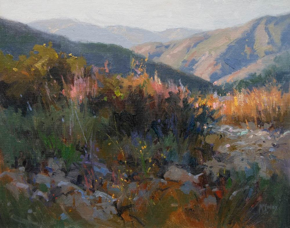 Richard McKinley,  Last Light in Ojai,  oil