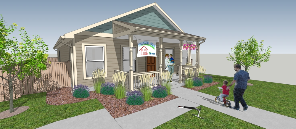 These ranch style homes have are being built in the town of Dacono. Habitat is using a similar design in the town of Lyons.