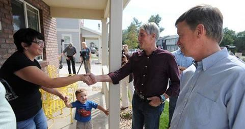 Click on the photo to read about when Governor John Hickenlooper and Senator Mark Udall visited Habitat's build site for Serve CO Day.