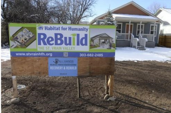 Click on the photo to read about Habitat for Humanity's first home in Lyons, CO!