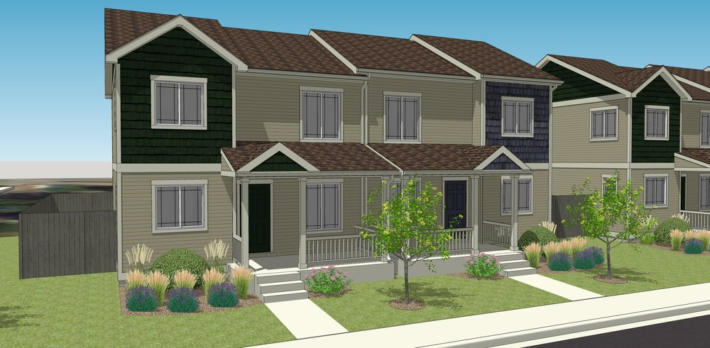 Rendering of what the duplexes in Lyons may look like.