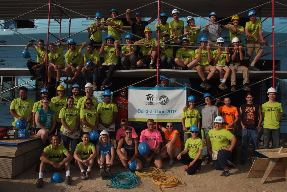 Habitat Colorado hosted AmeriCorps Build-a-Thon where 109 AmeriCorps members serving across the US came to CO to build for a week! We hosted 55 members at our Longmont and Dacono sites. Check out the story here.